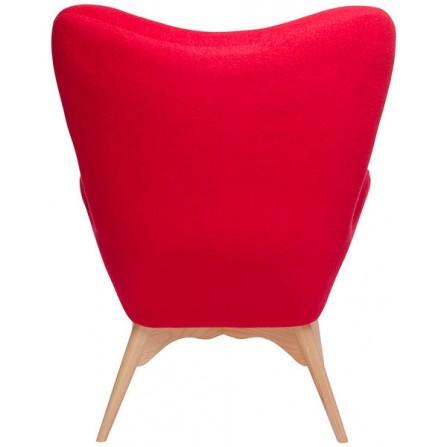Fotel CONTOUR  czerwony- tapicerowany skandynawski