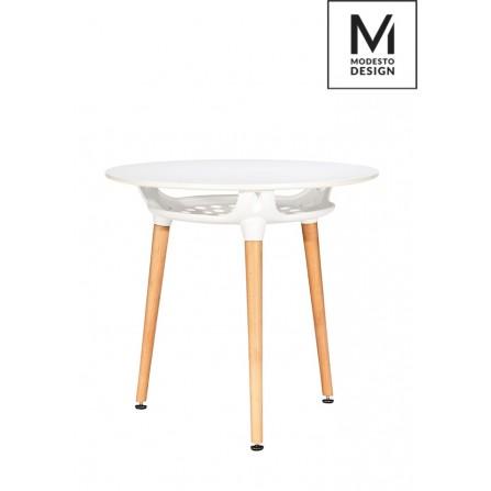 Stół Hide FI80 modesto biały - blat MDF, podstawa metalowa