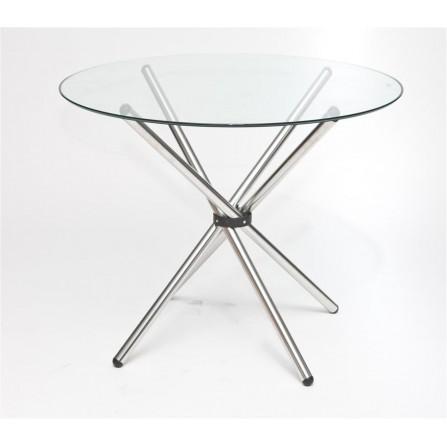 Stół Ufo okrągły szklany fi 90 cm