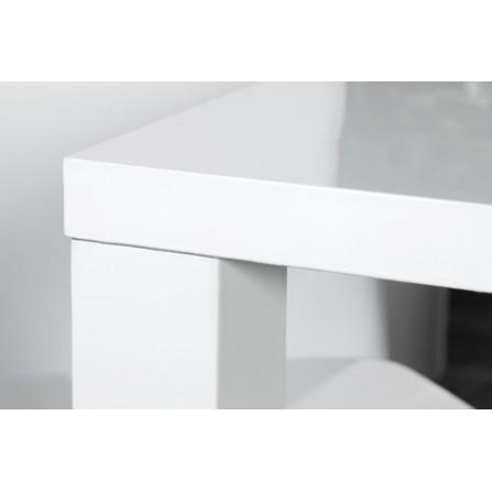 Stół Lucente 140x80 biały połysk