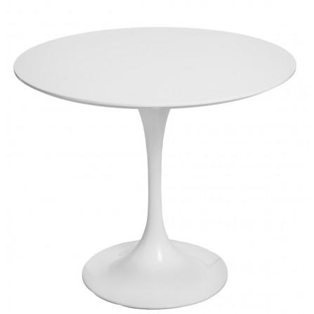 Stół Fiber okrągły 90 biały MDF