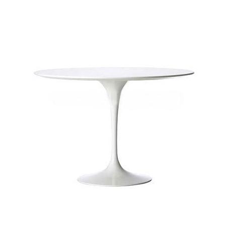 Stół Fiber fi 120 cm biały mdf