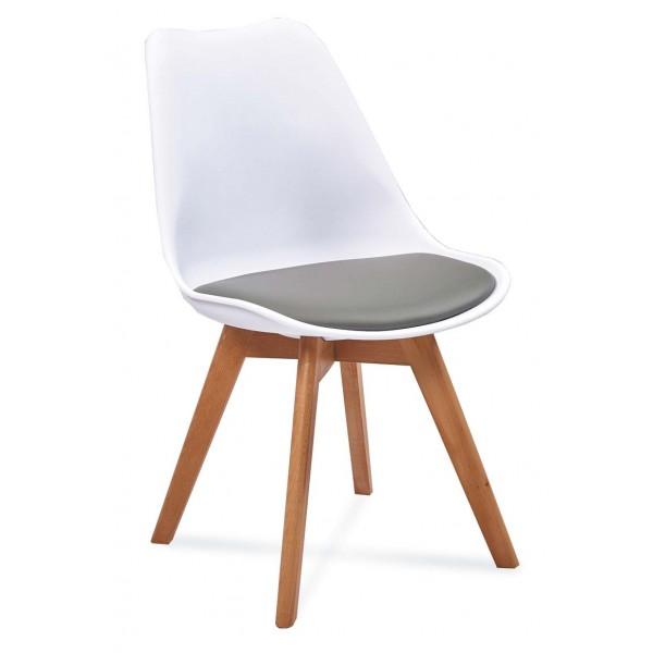 Krzesło FIORD 2 biały+szary