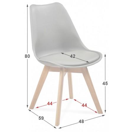 Krzesło FIORD wymiary
