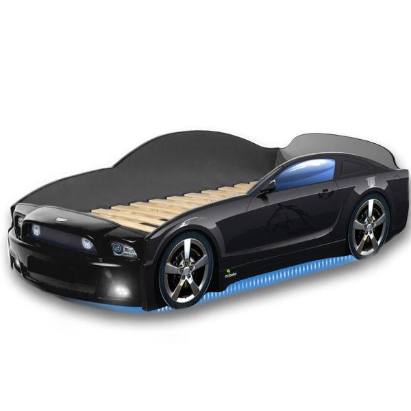 Łóżko dziecięce samochód MG Plus full mustang czarny