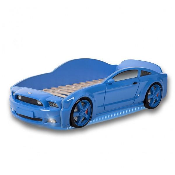 Łóżko dziecięce samochód MG 3D full mustang niebieski