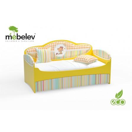 Łóżko dziecięce MIA powiększone kolor różowy