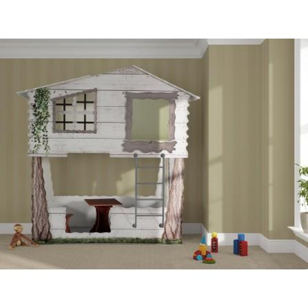 Łóżko dziecięce piętrowe Domek na drzewie