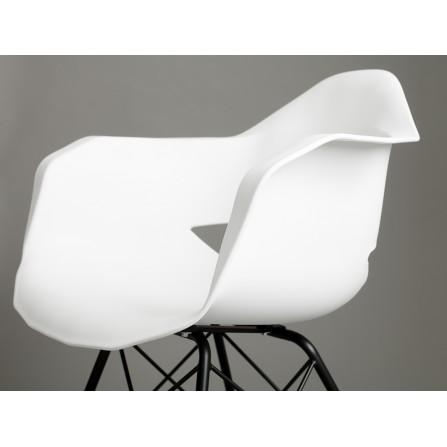 Krzesło MATCH ARMS METAL BLACK