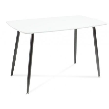 Stół Simon blat biały czarne nogi 120