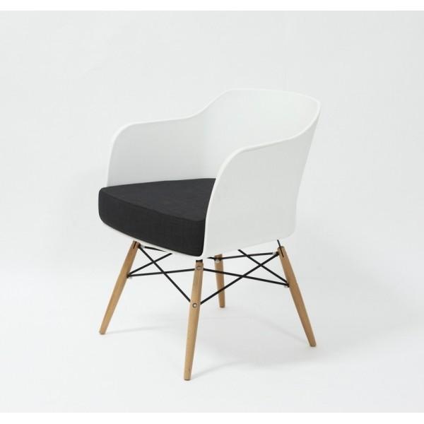 Fotel BARONE - polipropylen, podstawa bukowa