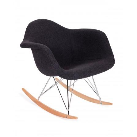 Fotel bujany PLUSH grafitowy