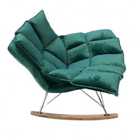 Fotel bujany SWING VELVET ciemny zielony