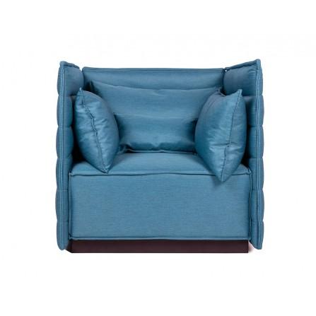 Fotel COVA turkusowy, tkanina