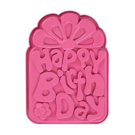 PAV - Forma na ciasto/tort HAPPY BIRTHDAY różowy