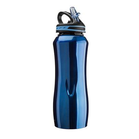 CG - Stalowa butelka WATERVILLE, niebieska