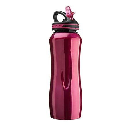 CG - Stalowa butelka WATERVILLE, czerwona