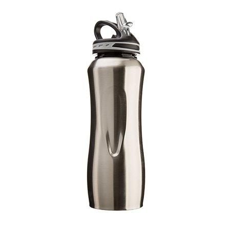 CG - Stalowa butelka WATERVILLE, szara