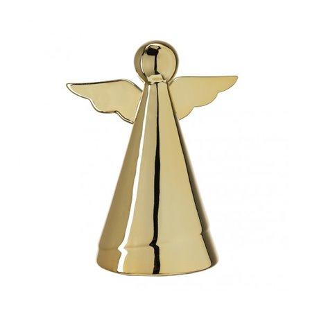 LO - Dekoracja - anioł 16 cm, złoty, Glaciale