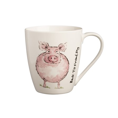 PK- Kubek 350ml, Back To Front Pig Mug