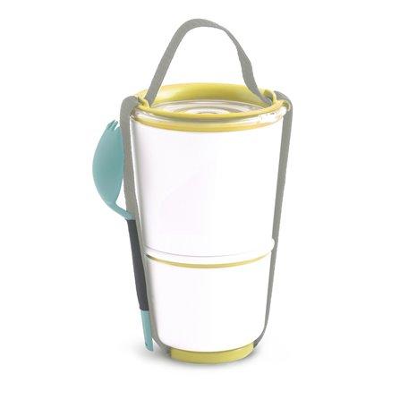 BB- Pojemnik LUNCH POT, żółto-bialy