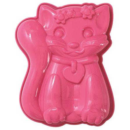 PAV - Forma na ciasto KOTEK, różowa