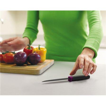 JJ - Nóż ząbkowany ELEVATE, fioletowy
