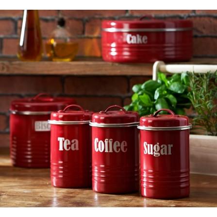 TYP- Pojemnik 1,9l, czerwony, Vintage Kitchen