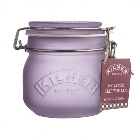 KIL - Słoik 0,5l, fioletowy, Frosted