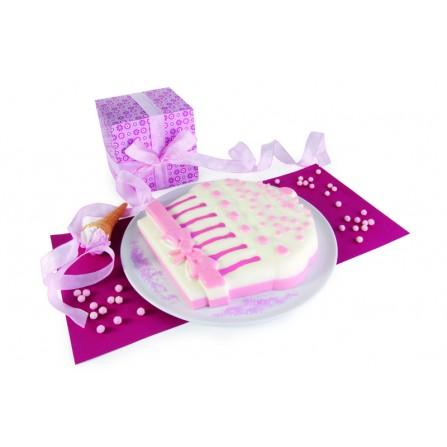 PAV -Forma na ciasto/tort CUPCAKE (muffin), różowa
