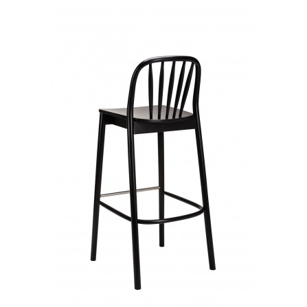 Hoker krzesło barowe Aldo 1070 czarny