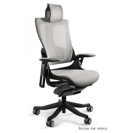 Fotel biurowy Wau 2 ergonomiczny siatka szara zdjęcie front