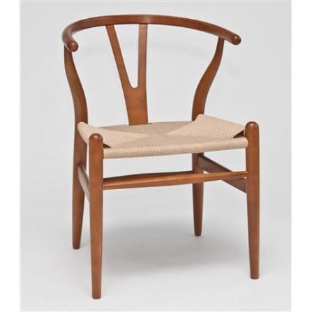 Krzesło drewniane Wicker brązowy
